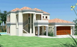 Modern tuscan style house plan, 4 bedroom, double storey floor plans