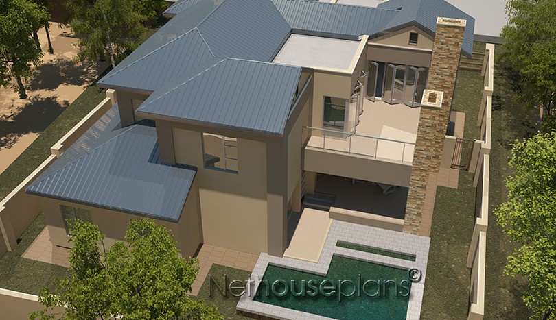 Modern contemporary style house plan, 4 bedroom , double storey floor plans,