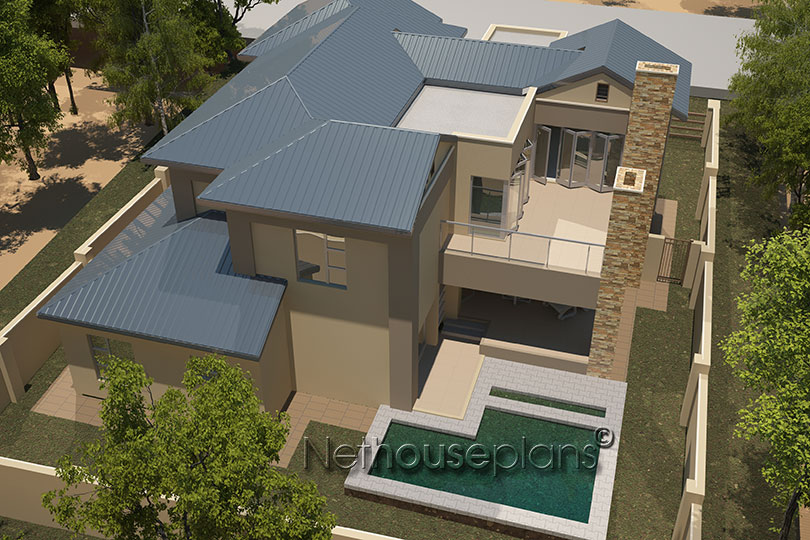 4 bedroom house plan modern house design by net house for Modern four bedroom house plans