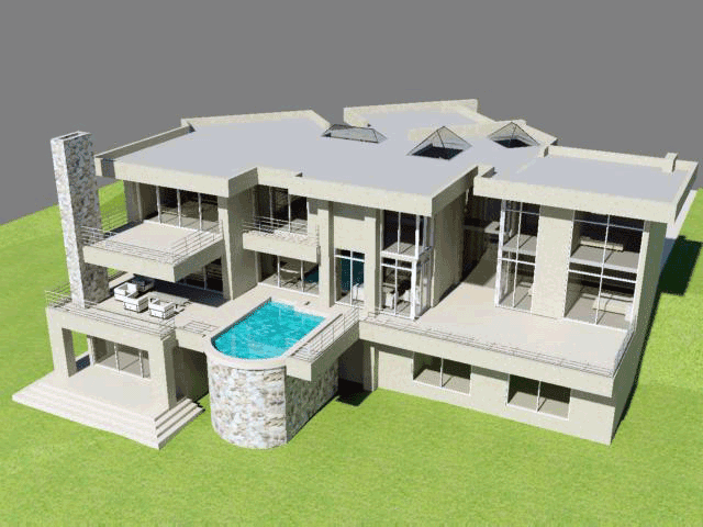 6 Bedroom 3 Story House Plan South African Designs