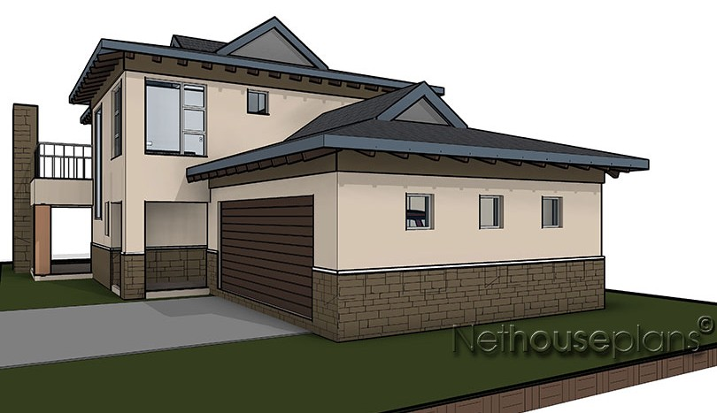 Bali style house plan, 3 bedroom , double storey floor plans, house plan