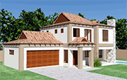 Bali house plan 3D view