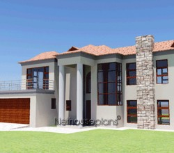 Modern Bali style house plan, 3 bedroom, double storey floor plans