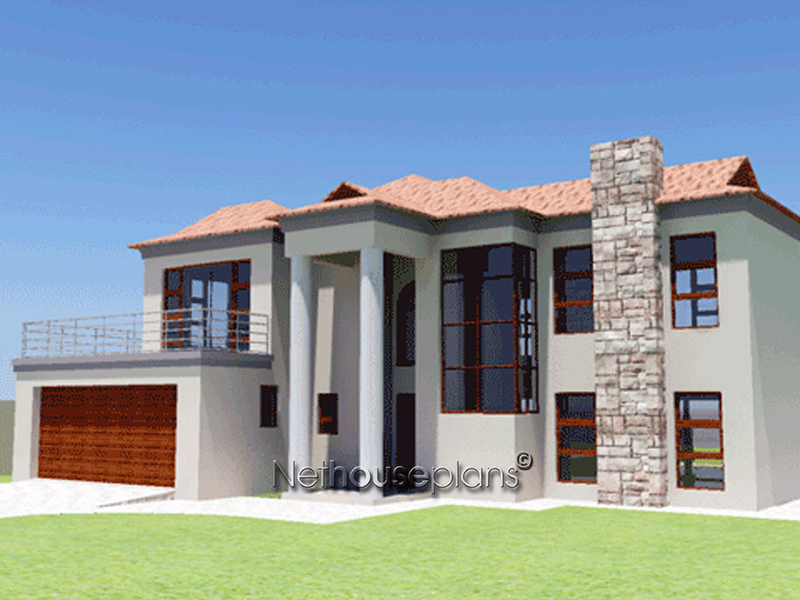 Ba250d nethouseplans for Modern three bedroom house plans