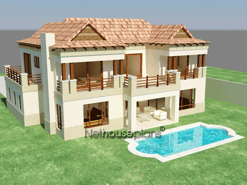 Bali Design Style House Plan 3 Bedroom Double Storey Floor Plans