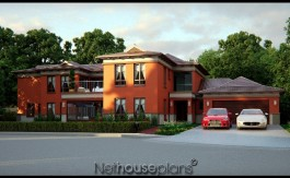 Bali style house plan, 4 bedroom, double storey floor plans