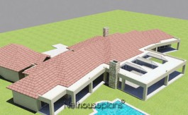 Traditional style house plan, 4 bedroom, single storey floor plans, enchanting 4 bedroom Bali style home