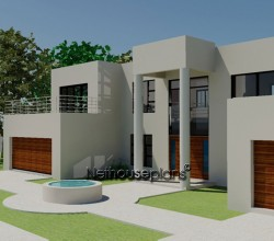 Modern style house plan, 4 bedroom, double storey floor plans, 4 bed room house