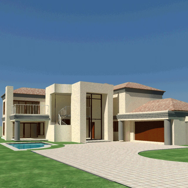 4 bedroom house plan south african home designs - Single story 4 bedroom modern house plans ...