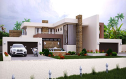 4 Bedrooms house plan. Modern House Plans South Africa - Modern home design by Nethouseplans, Fourways, South AFrica
