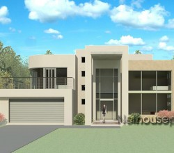 Modern contemporary style, 4 bedroom house plan, double storey floor plans, floor plan