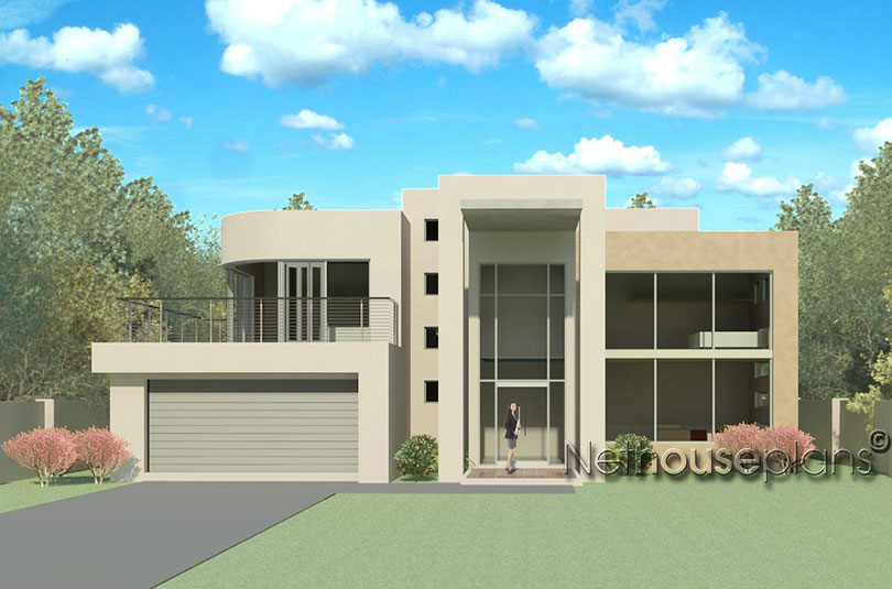 Modern Contemporary Style, 4 Bedroom House Plan, Double Storey Floor Plans,  Floor Plan