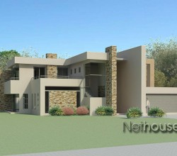 Modern style house plan, 4 bedroom , double storey floor plans, house plans, modern architecture style