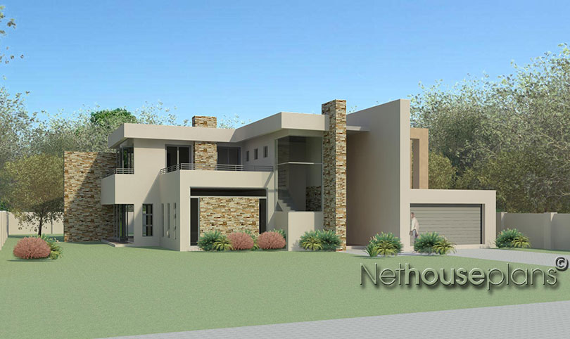 4 Bedroom Modern Style House Plan - Net House Plans South