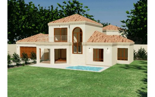House Plans South Africa, modest 3 bedroom home design by Nethouseplans