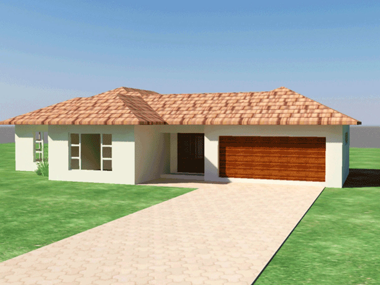 Single storey house plan 3 bedroom house plan for New style house plans