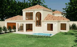 Tuscan style house plan, 3 bedroom , double storey floor plans, modest 3 bedroom home