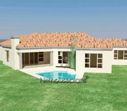 3 bedroom Tuscan home design Modern tuscan style house plan, 3 bedroom , single storey floor plans, 3 bedroom tuscan home design