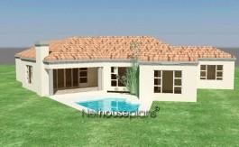 Modern tuscan style house plan, 3 bedroom , single storey floor plans, 3 bedroom tuscan home design