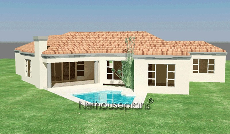 3 bedroom tuscan house plans in south africa for African house designs
