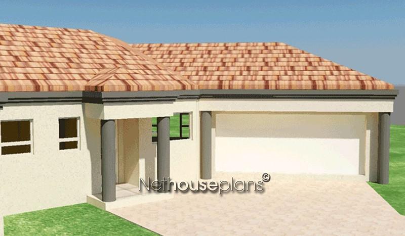 Modern tuscan style house plan, 3 bedroom , single storey floor plans