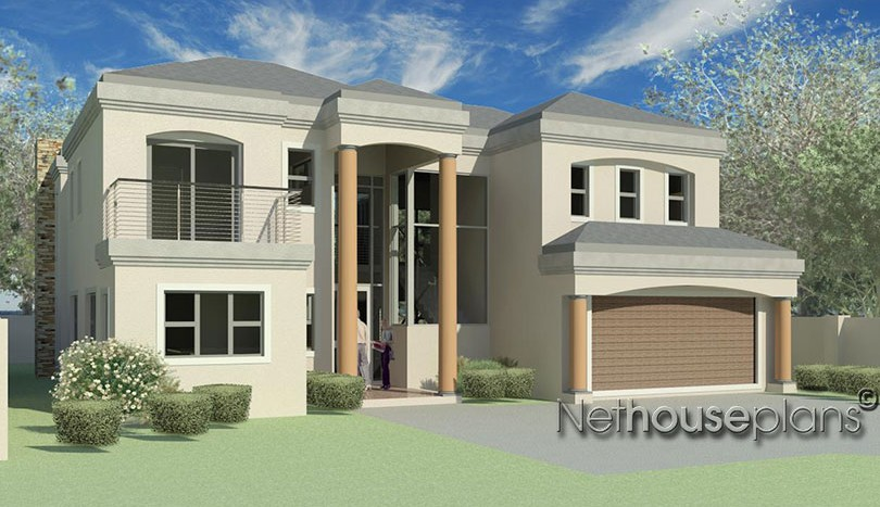 house plans south africa 3 bedroom house plans 3d house plans double story House and home private property architects best house designs 3d house plans modern architecture architektura home design ideas 3 bedroom Tuscan style home design with a beautiful entrance hall, Modern tuscan architecture design style by Nethouseplans