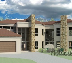 modern tuscan home design, double storey house plan, Tuscan house plan in South Africa, 4 bedroom house plan