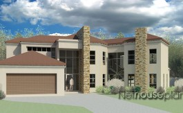 Modern tuscan style house plan, 3 bedroom , double storey floor plans, house plans, modern tuscan home design