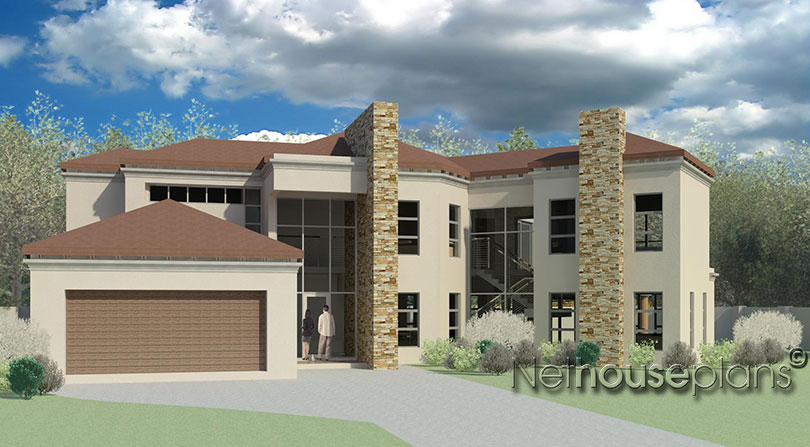 Modern Tuscan Style House Plan, 3 Bedroom , Double Storey Floor Plans, House  Plans