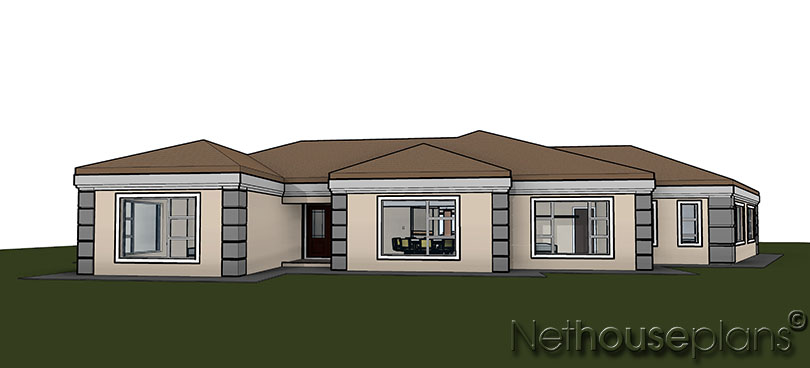 Nethouseplans T351 Order This 5 Bedroom Home