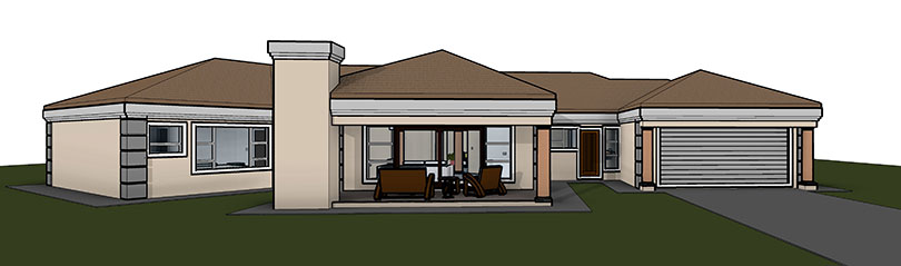 5 bedroom house plan t351 nethouseplans for Single story 4 bedroom modern house plans