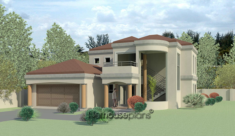 T382dm nethouseplans Modern double storey house plans