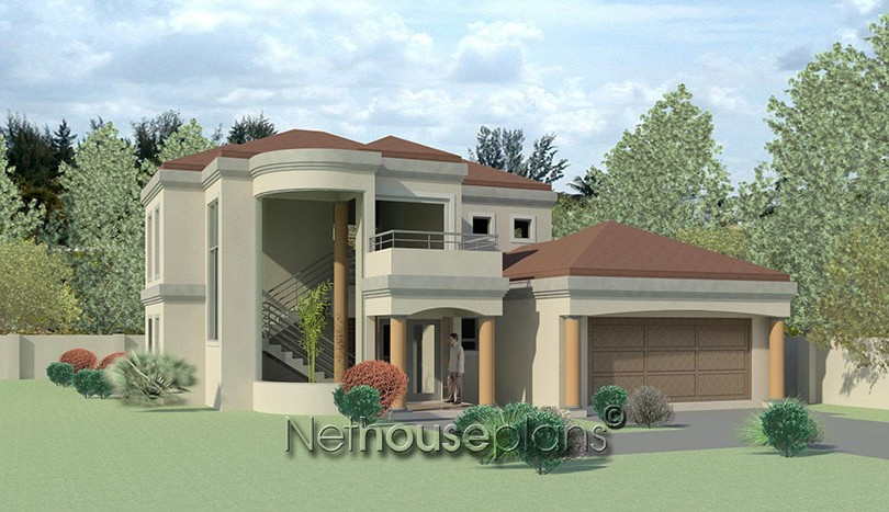 Charming 4 bedroom house plan t382d Modern double storey house plans