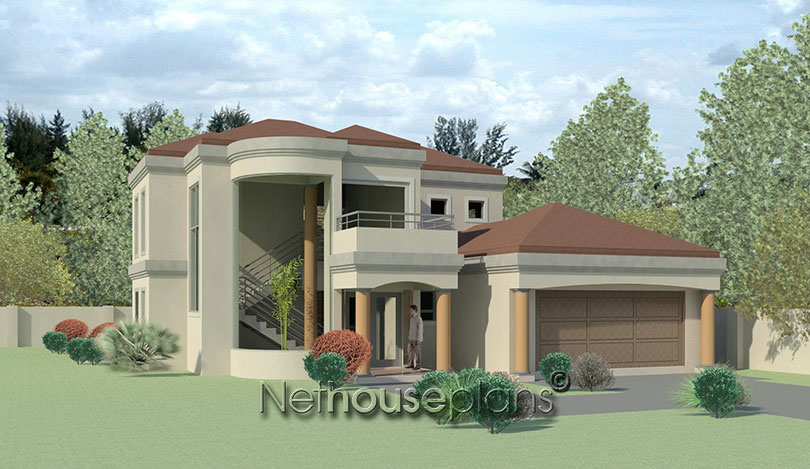Charming 4 Bedroom House Plan South Africa | Double Story ...