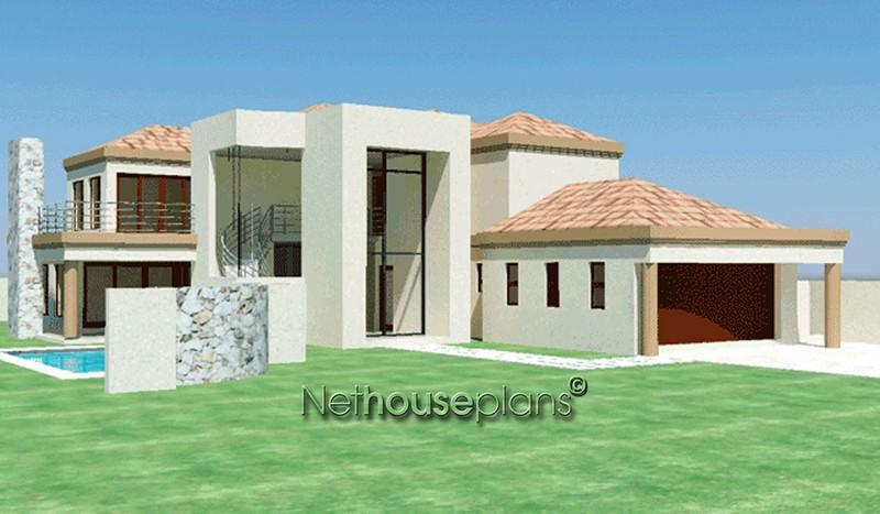 T455d nethouseplans 4 bedroom double storey house plans