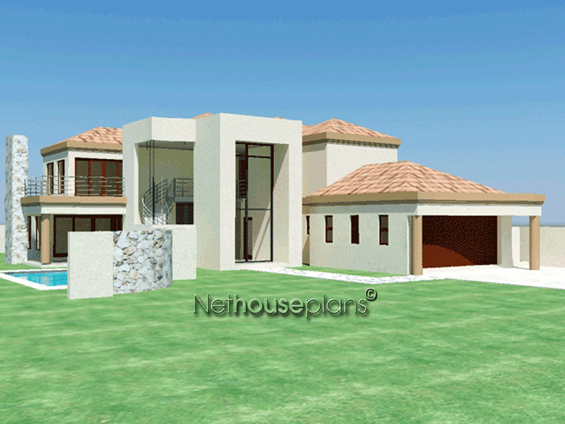 Double Storey Tuscan House Plan Modern