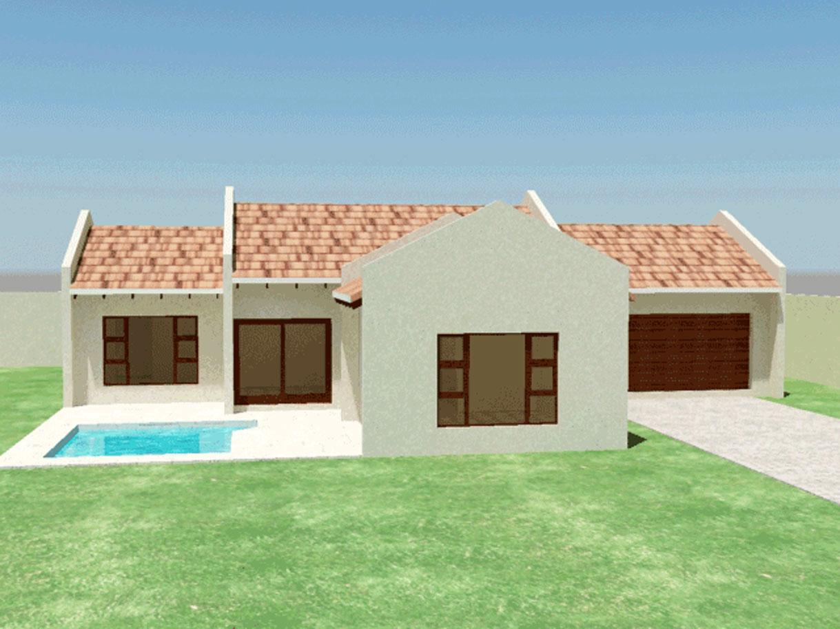 Traditional style house plan 3 bedroom single storey floor plans