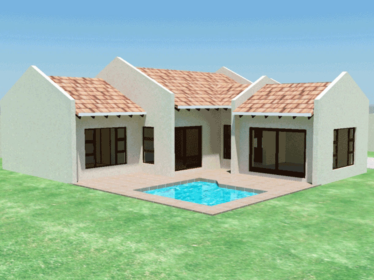 TR158ELEV2 - 29+ Small House Design South Africa Pics