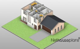 Traditional style house plan, 3 bedroom , double storey floor plans, house plans