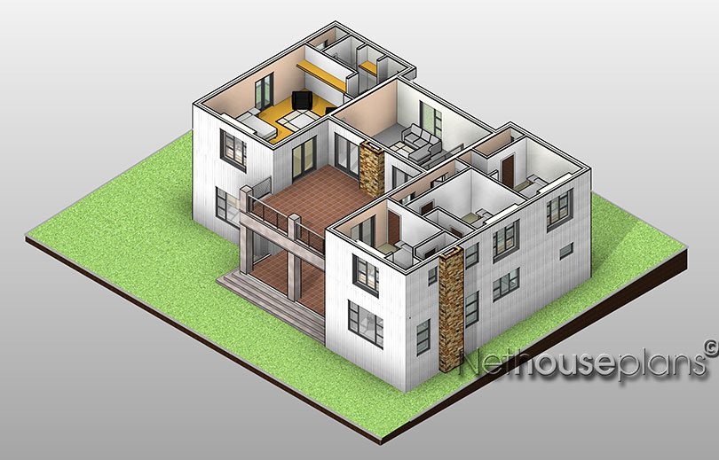 Ranch style house plan tr356d by for 5 bedroom double storey house plans