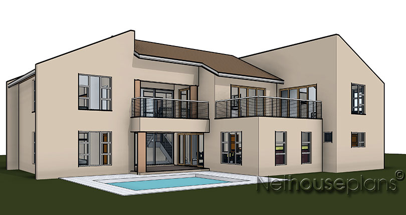 Traditional style house plan, 4 bedroom , double storey floor plans, house plan