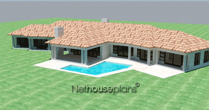 Home designs house floor plans tr418 for 4 bedroom house pictures