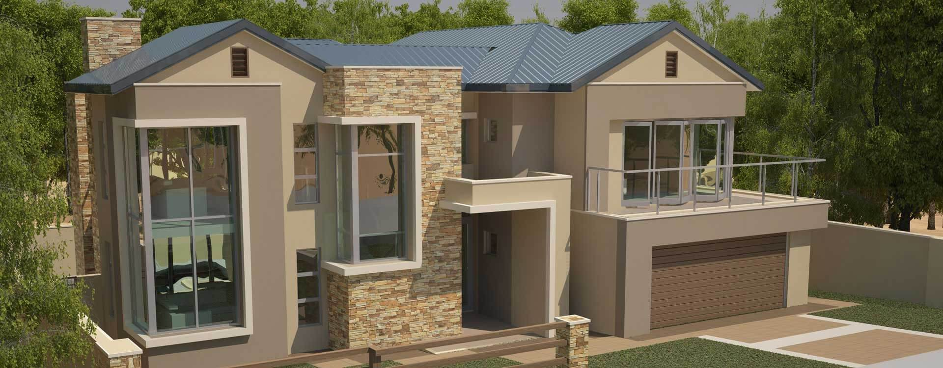 Modern Contemporary Style, House Plans, 4 Bedroom, Double Storey Floor  Plans, Modern