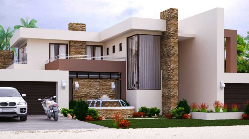 Home Design with 4 Bedrooms Modern Style