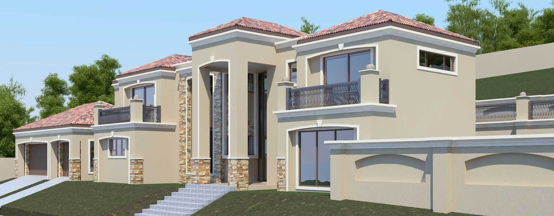 Modern Tuscan Style, 5 Bedroom House Plan, Double Storey Floor Plans,  Nethouseplans Architectural
