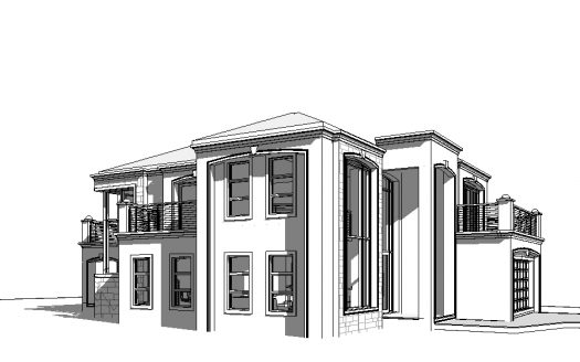 Architecture House Design Sketch With Decor