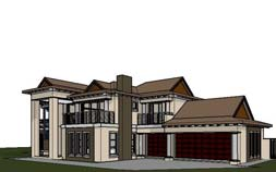 4 bedroom house plan, 4 bedroom online house plans South Africa, Bali Style 4 bedroom house plans SA by Nethouseplans, Fourways, South Africa
