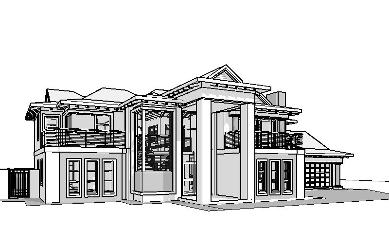 4 bedroom double storey house plan BA466D, house designs south africa, house plans south africa