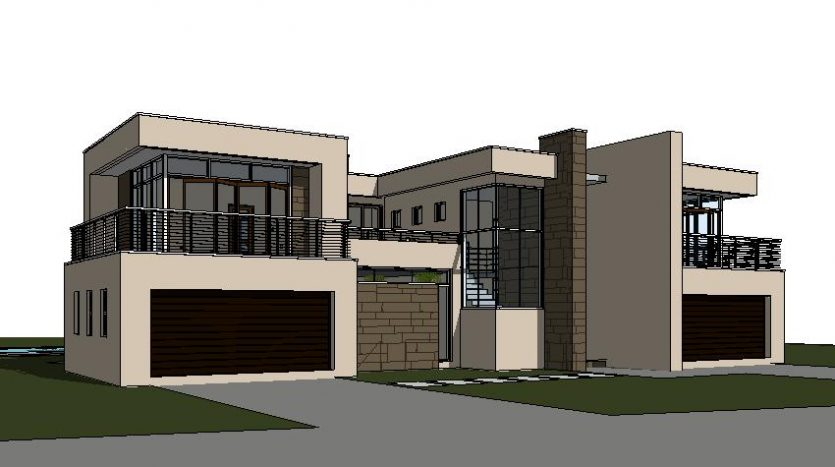 Double storey house designs South Africa plan C643D, Nethouseplans, South Africa