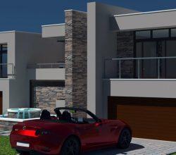 2 storey House Design, modern house plan, 4 car garage house design, contemporary double storey house plan, two storey house plan, Nethouseplans
